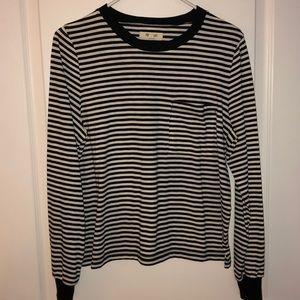 Black/white stripe Madewell cotton shirt